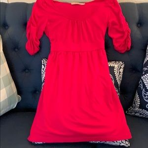 Juicy Couture pink ruched sleeve tie back dress S